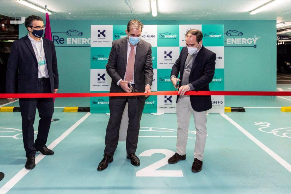 El CC Príncipe Pío estrena el parque de recarga de vehículos eléctricos más grande de la capital