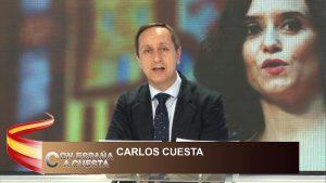 """Carlos Cuesta: """"Gabilondo es el bufón de Sánchez, quien vote por ellos, votará por terroristas y populistas"""""""