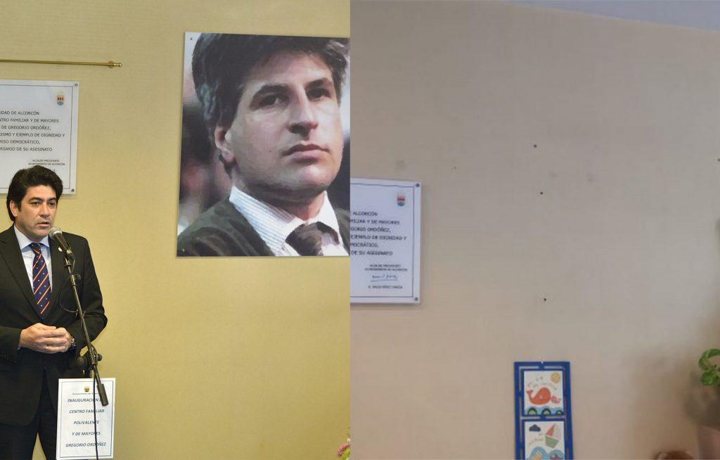 ¡Indignante! El PSOE retira la foto de Gregorio Ordóñez del centro de mayores que lleva su nombre