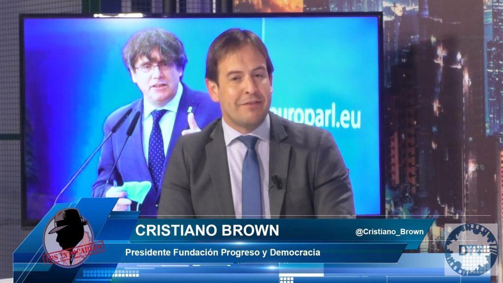 """Cristiano Brown: """"Nada de lo que dicen los independentistas es verdad, son fugados de la justicia"""""""