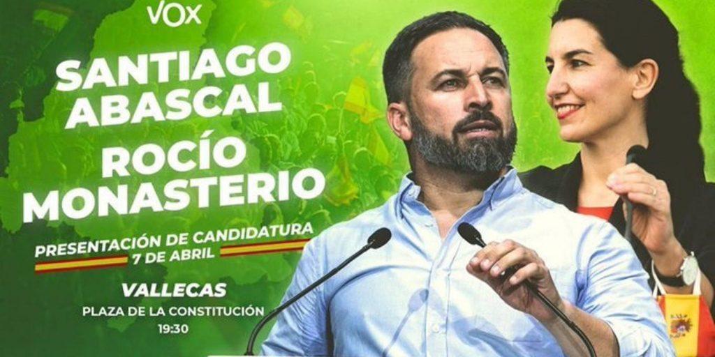 La Delegación del Gobierno autoriza como concentración el acto de Vox en Vallecas