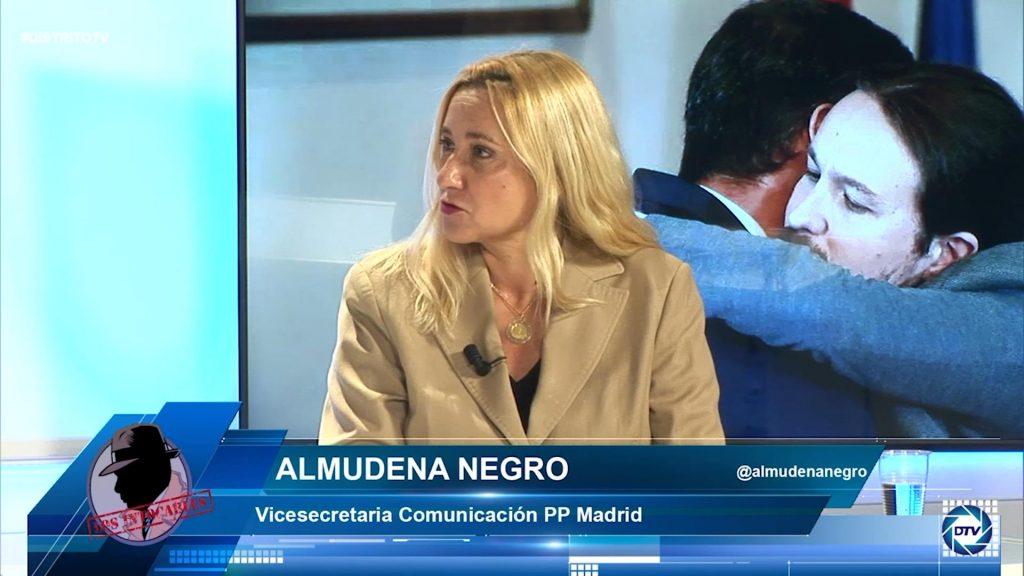 """Almudena Negro: """"Nos jugamos la libertad el 4M, el modelo de Sánchez consiste en atacar periodistas"""""""