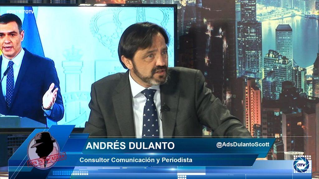 """Andrés Dulanto: """"La economía está sumergida en España, hay mucha gente en el paro"""""""