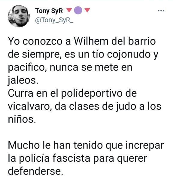 Identifican a 'El Jabalí de Vallecas', el sujeto que agredió brutalmente a un policía