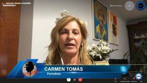 """Carmen Tomás: """"La izquierda siempre que se pone nerviosa, trata de dividir a la población"""""""