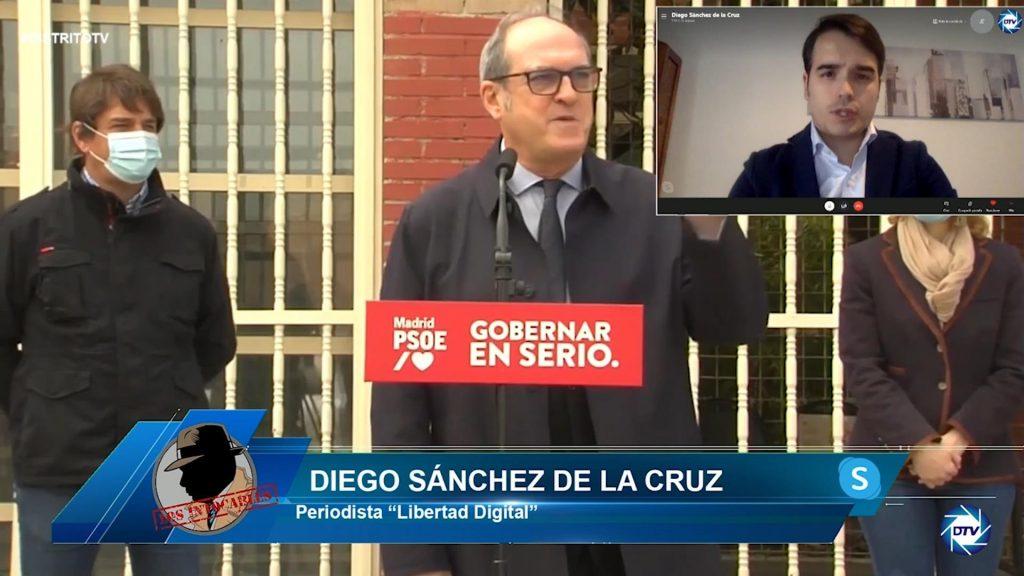 """Diego Sánchez de la Cruz: """"Que a Madrid le va mal en la pandemia es una mentira más de Gabilondo"""""""