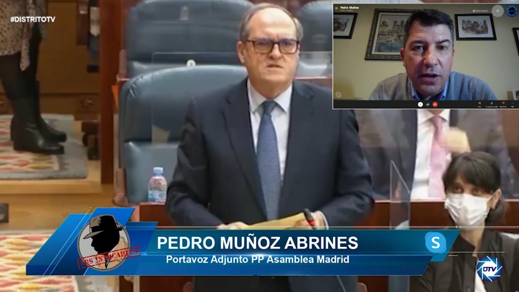 """Pedro Muñoz: """"Gabilondo nunca ha dicho la verdad, el Gobierno de España le hace el trabajo sucio"""""""