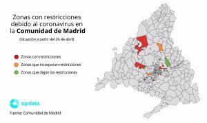Unos 450.000 madrileños, afectados por las restricciones en 16 ZBS y tres municipios
