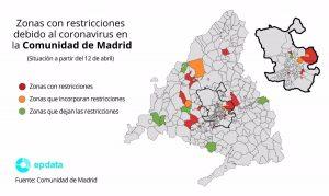 Madrid cierra 17 Zonas Básicas de Salud y cinco localidades a partir de este lunes