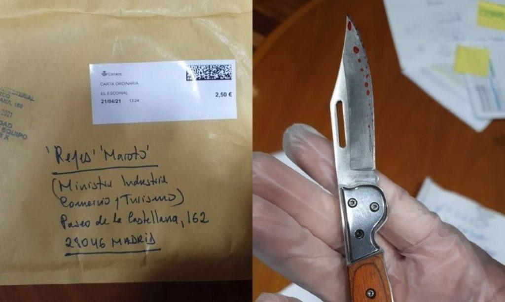 El autor del sobre remitido a la ministra Maroto es un vecino de El Escorial con problemas mentales