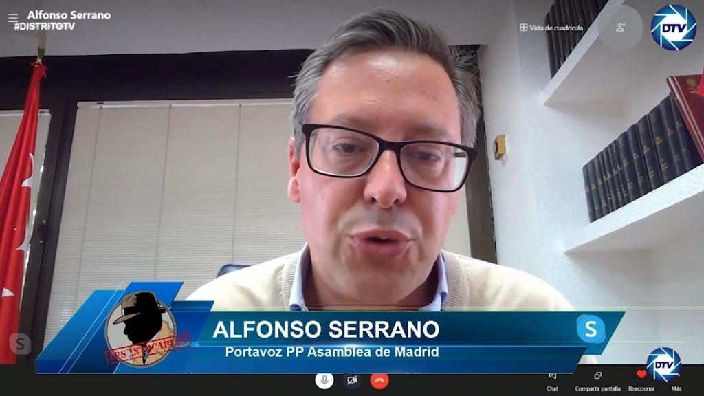 """Alfonso Serrano: """"El Gobierno de Sánchez utiliza las instituciones públicas para el beneficio de su partido"""""""