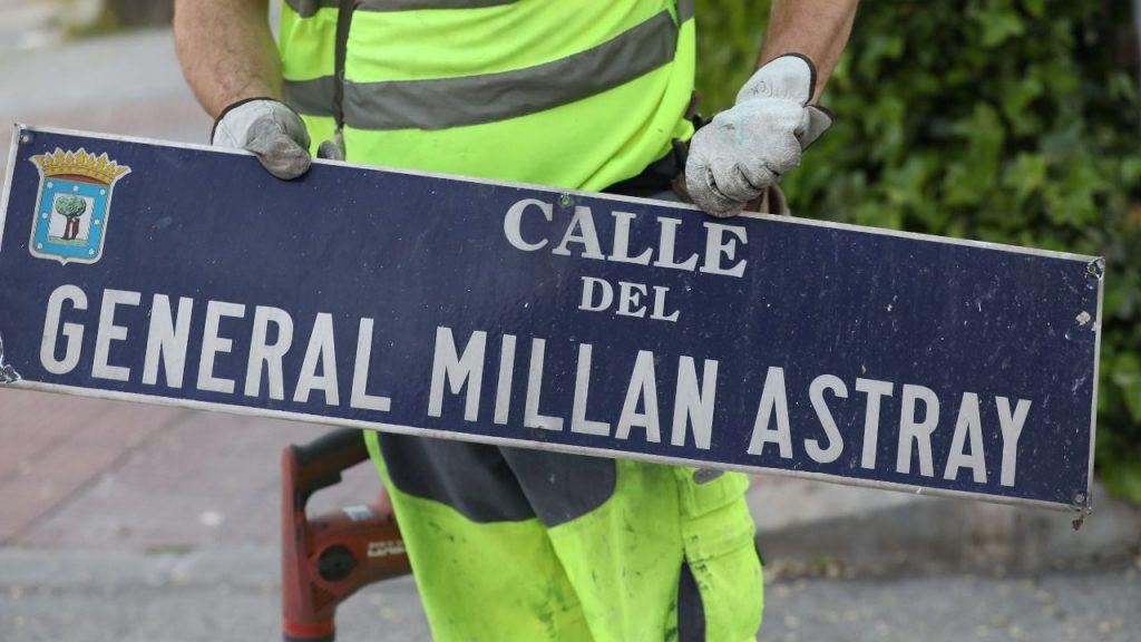 El TSJM obliga al Ayuntamiento de Madrid a mantener la calle General Millán Astray en el callejero