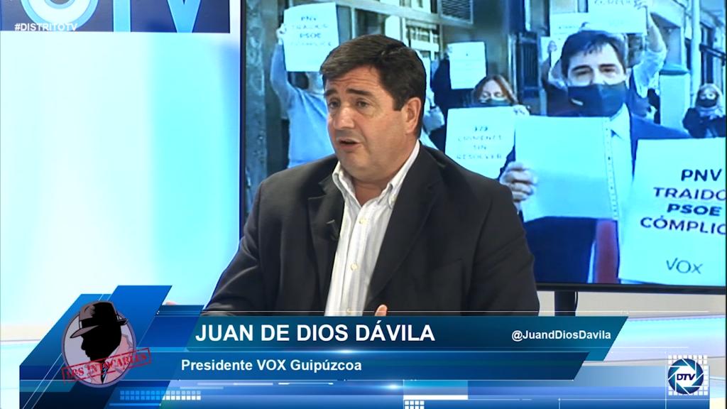 """Juan de Dios: """"El proyecto político de ETA, más allá de ser derrotado, está en su mejor momento con el Gobierno"""""""