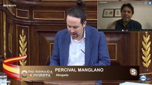 """Percival Manglano: """"La izquierda usa las amenazas para favorecerse como campaña política"""""""