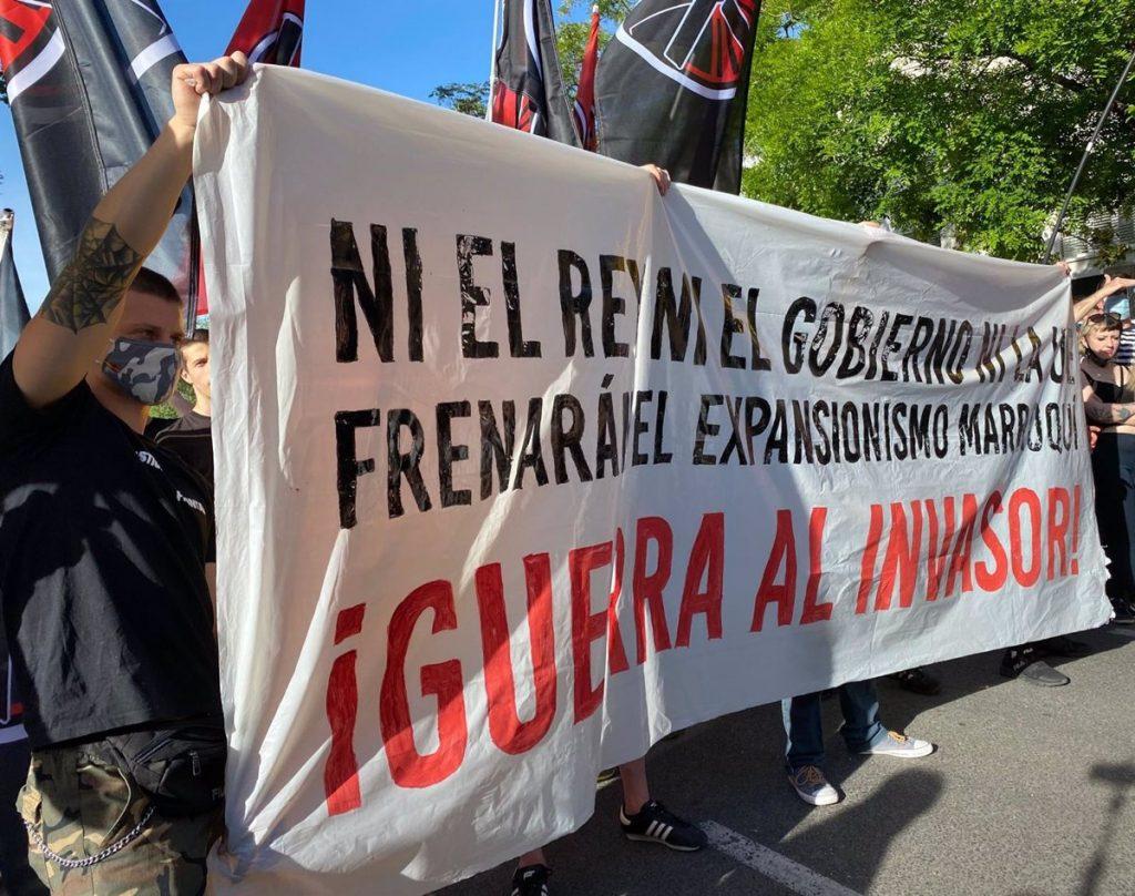 Cinco detenidos y siete agentes atendidos en una protesta frente a la Embajada de Marruecos