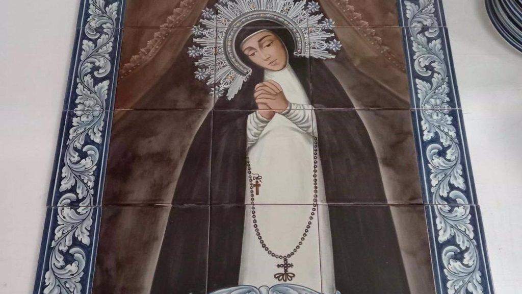 El cardenal arzobispo Carlos Osoro inaugura un mosaico dedicado a la Virgen de la Paloma