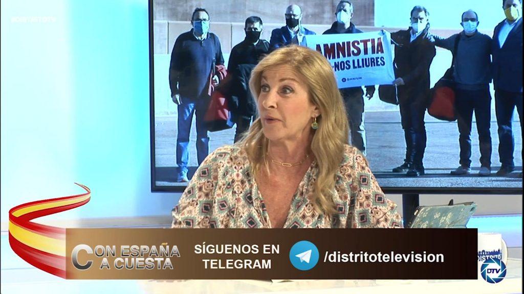 """Carmen Tomás: """"Aragonés no gobierna solo, gobierna con Junts, Sánchez cree que el diálogo será agradable"""""""