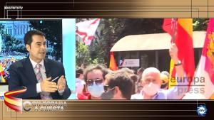 """Jesús Á. Rojo: """"Esta manifestación es un mensaje para el Gobierno, Sánchez piensa indultar a unos infames"""""""