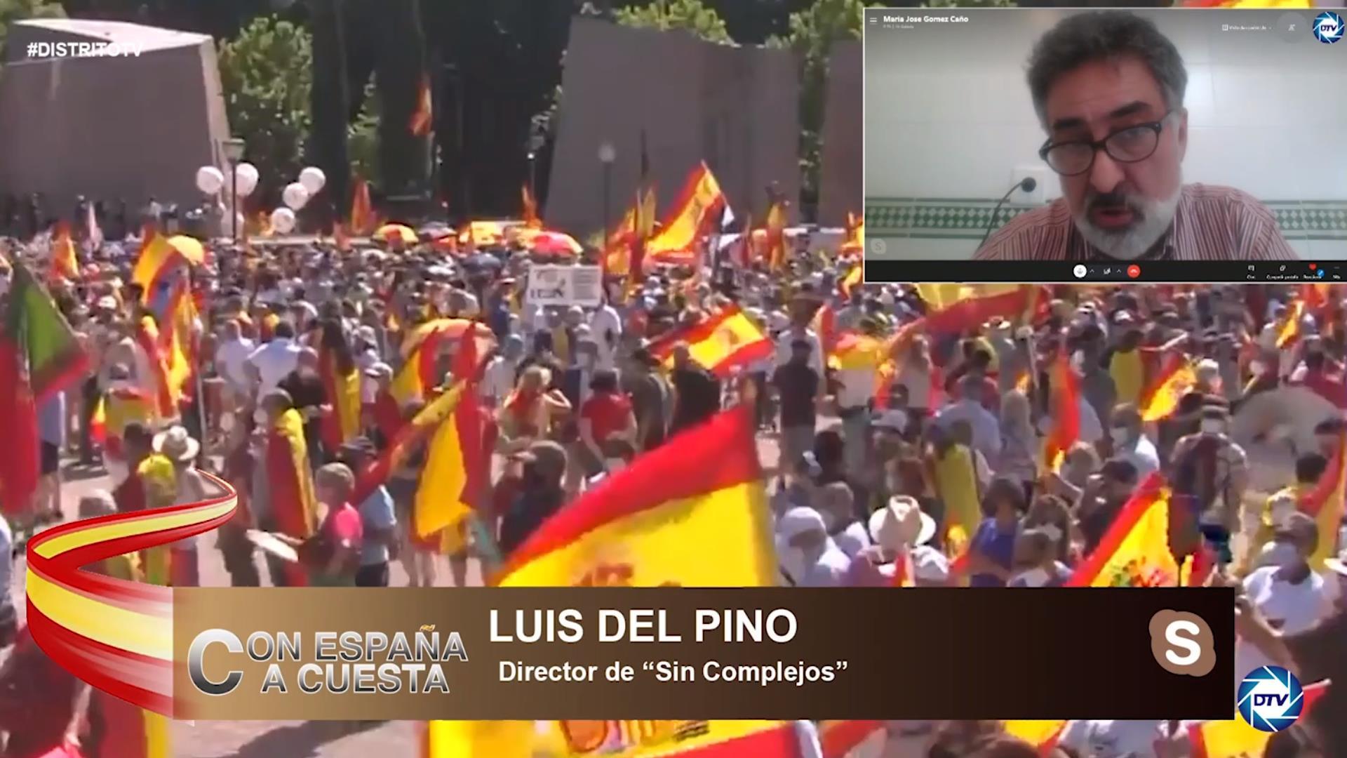 """Luis del Pino: """"Más de 150 mil personas asistieron a Colón, es arrollador, todo el mundo se ha juntado"""""""