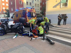 Herido de gravedad un joven de 25 años tras ser arrollado a bordo de un patinete en Ciudad Lineal