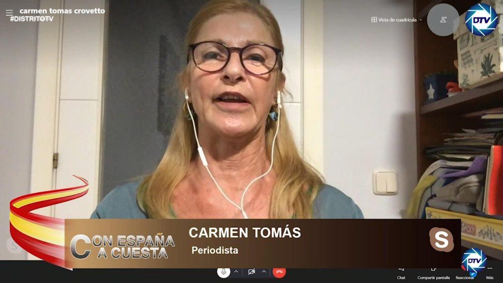 """Carmen Tomás: """"Hay unos votantes de centroderecha que no quieren independentismo, basta ya"""""""