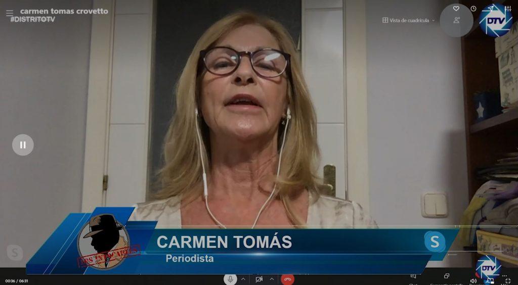 """Carmen Tomás: """"Sánchez quiere convencernos de que empieza una nueva etapa, no debemos dejar que eso suceda"""""""