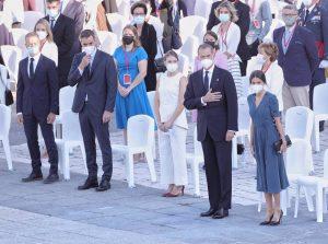 El Rey preside el homenaje a las víctimas centrado en los sanitarios fallecidos y los mayores vacunados