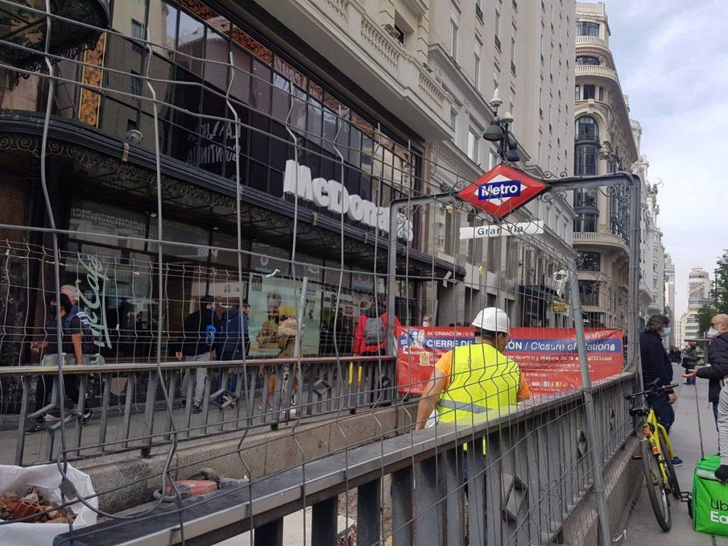 Metro reabre este viernes Gran Vía y su conexión con Sol tras más de 1.000 días de obras