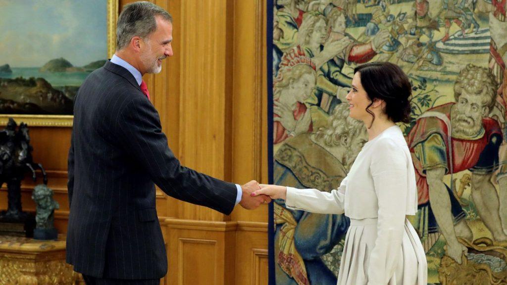 El Rey Felipe VI recibirá en audiencia a Isabel Díaz Ayuso este miércoles