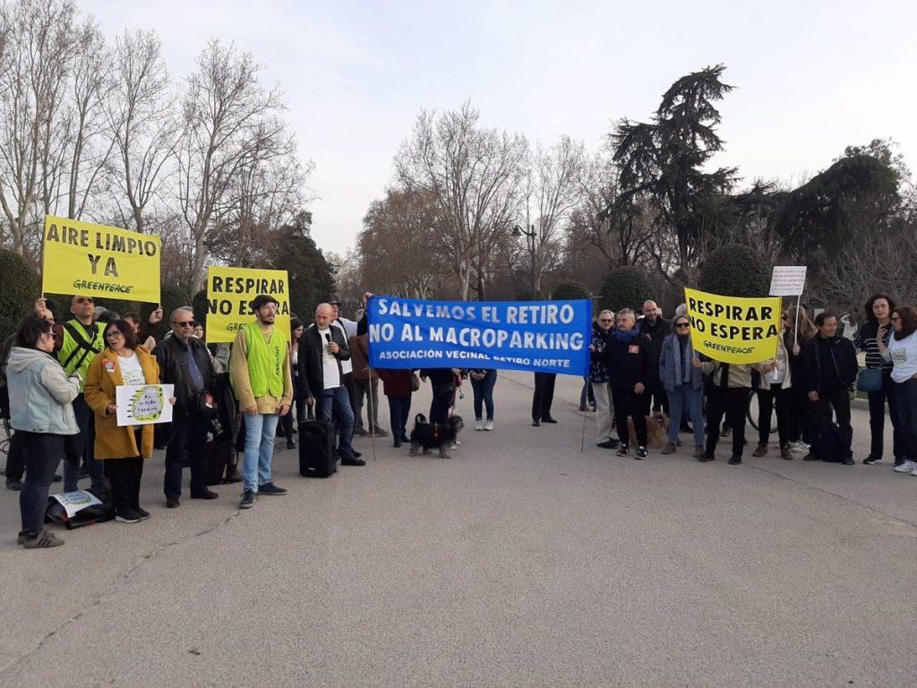 """Concejal de Retiro (Madrid) anuncia que construcción de un gran parking junto al parque """"ya no está sobre la mesa"""""""