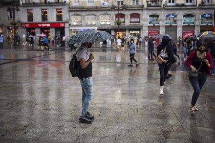 Aviso amarillo este martes en toda la región de Madrid por fuertes lluvias