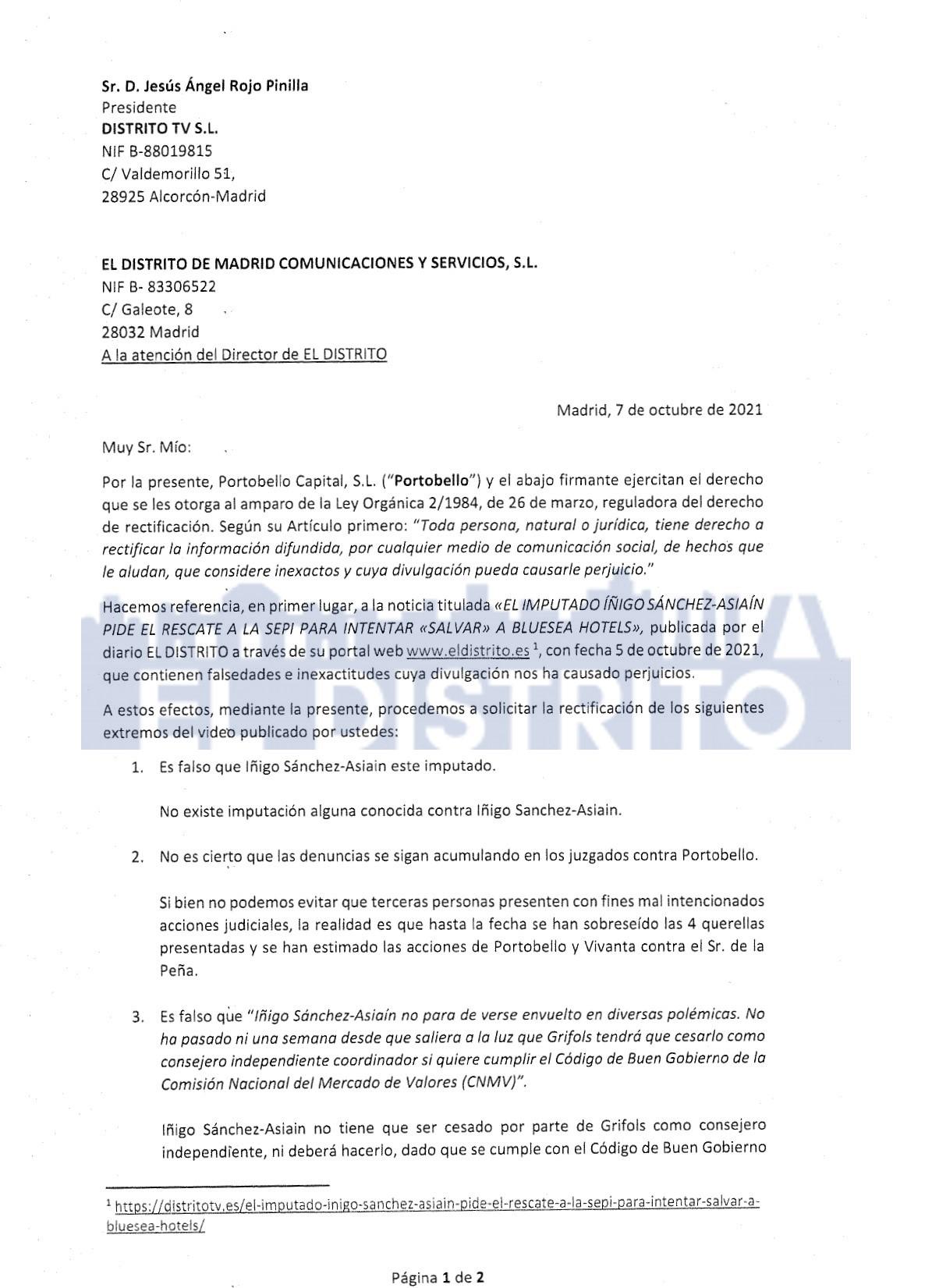 Íñigo Sánchez-Asiaín mintió al negar que está imputado por un delito de estafa